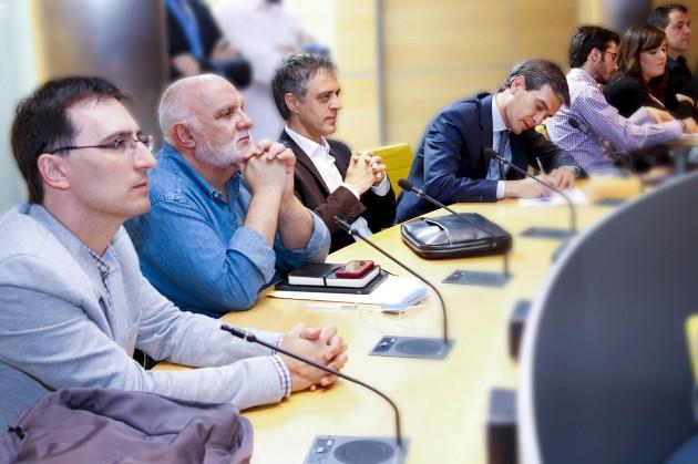 Formadores y mentores de Alinea durante la selección de los proyectos.