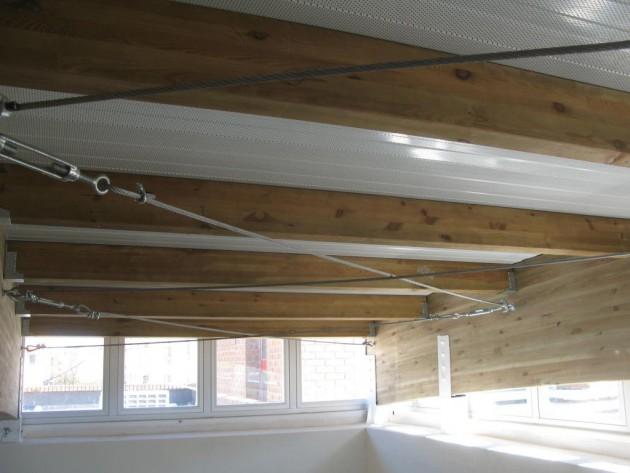 Detalle de la solución constructiva adoptada para el lucernario.