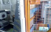 El tren de ensayo de impacto horizontal del Laboratorio de Transporte de AIDIMA es una herramienta determinante en la ingeniería destinada a la mejora y adaptación de grandes contenedores. En la imagen, el dispositivo ampliado que va oculto en la jaula sometida a ensayo
