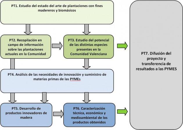 Estructura del proyecto PROINNOMADERA
