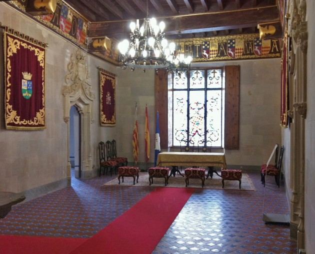Detalle de la sala noble.