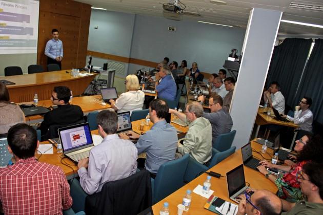 Una de las sesiones de trabajo del proyecto Pymbiosys que durante tres días reúne en Valencia al grupo internacional europeo.