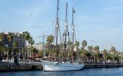 Vista general de la embarcación analizada, en el puerto de Barcelona.