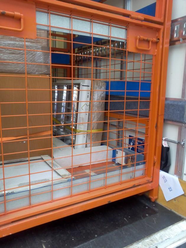 Unidad de carga con dispositivo de registro de datos de transporte, durante pruebas de funcionamiento en entorno real. AIDIMME