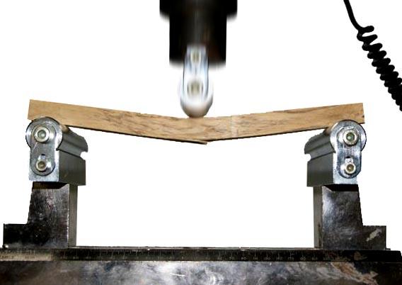 Ensayo de flexión estática de una probeta de madera de robinia