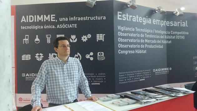 Fotografía 6. Transferencia y promoción de resultados a empresas valencianas en Feria Hábitat Valencia mediante circulares técnicas en el stand de AIDIMME.