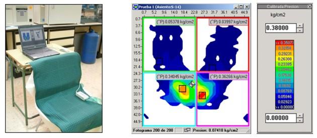 Evaluación de la distribución de presiones en mobiliario de asiento.
