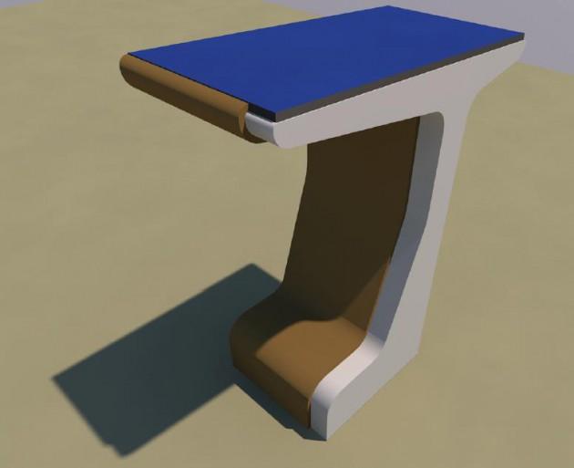 Imagen 4. Render preliminar del prototipo, que se está construyendo en la segunda anualidad del proyecto.