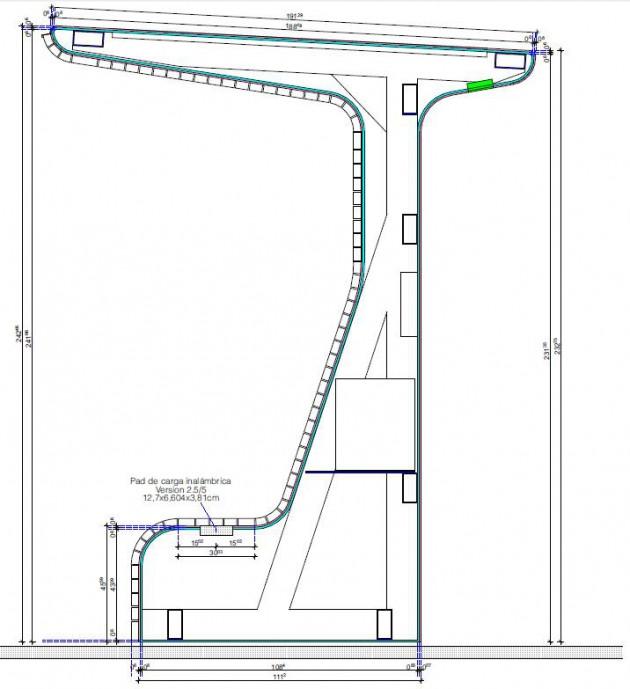 Imagen 5. Ejemplo de plano de sección del prototipo final.