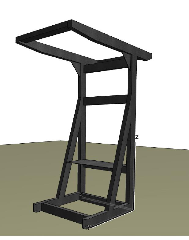Imagen 6. Imagen de la estructura metálica secundaria del prototipo.