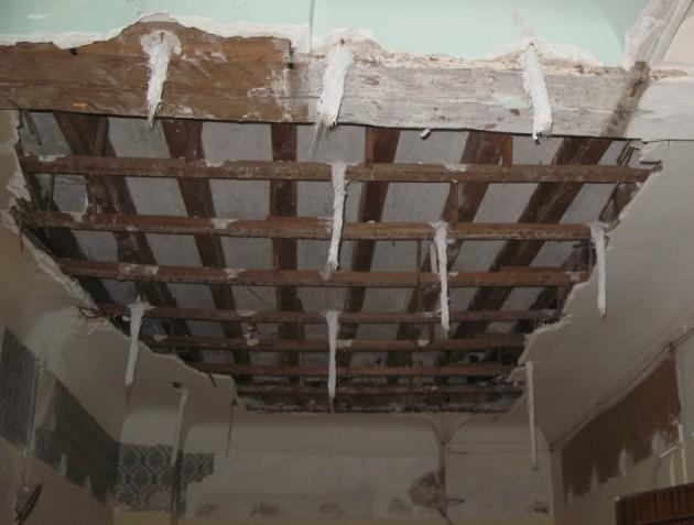 Imagen 1. Ejemplo de forjado con sistema constructivo tradicional de madera.