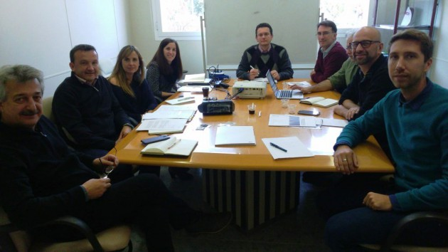 Imagen 9. Reunión de coordinación del proyecto celebrada en ITC-AICE en noviembre de 2017 para definir los últimos detalles del prototipo y de su app.