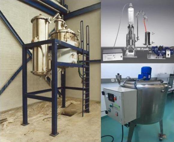 """Equipos para la producción de nanopartículas """"core-shell"""" a escala industrial."""