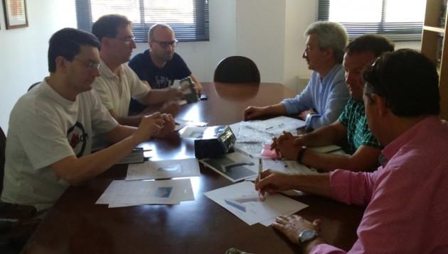 Imagen 4. Reunión en AIDIMME del proyecto, con una empresa de estructuras.