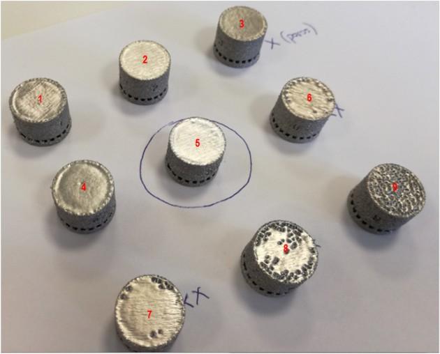 Diseño de experimentos variando los parámetros de la EBM para la mejora de la rugosidad superficial.