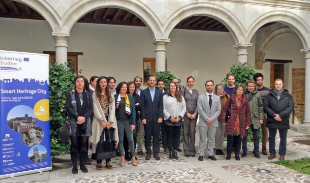El equipo de trabajo en Ávila.